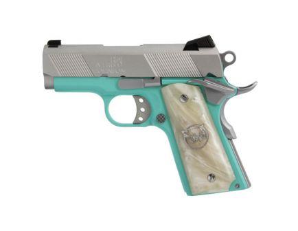 Iver Johnson Arms 1911 Thrasher Officer 9mm Pistol, Cerakote Tiffany Blue - THRASHERTB9