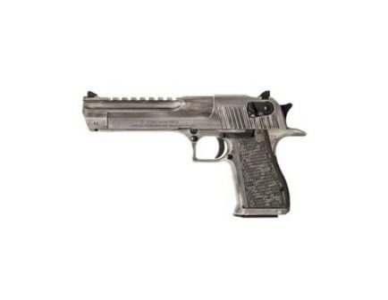 Magnum Research Desert Eagle Mark XIX .44 Mag Pistol, Cerakote White Matte Distressed - DE44WMD