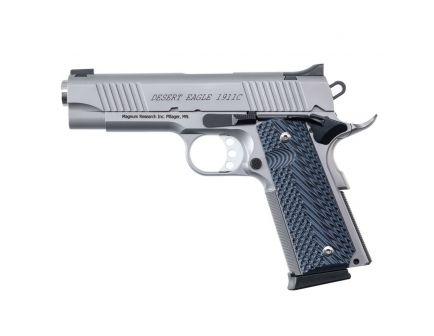 Magnum Research Desert Eagle 1911 C .45 ACP Pistol, Matte Stainless Steel - DE1911CSS
