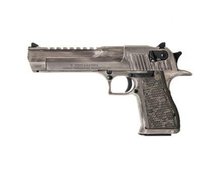 Magnum Research Desert Eagle Mark XIX .50 AE Pistol, Black Oxide w/ White Matte Distressed - DE50WMD