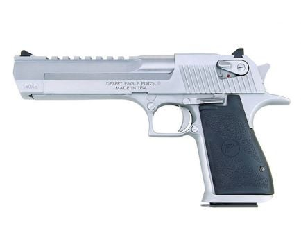 "Magnum Research Desert Eagle .50AE 6"" Pistol, Brush Chrome - DE50BC"