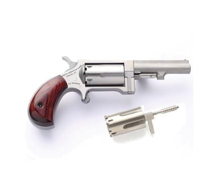 "North American Arms Sidewinder Small 2.5"" .22 Mag/.22lr Revolver, SS - SWC250"
