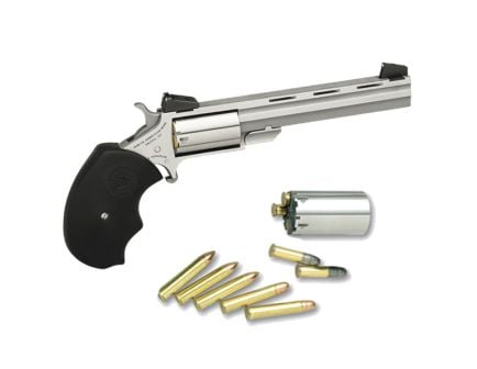 North American Arms Mini-Master Target Small .22 Mag/.22lr Revolver, SS - MMTC
