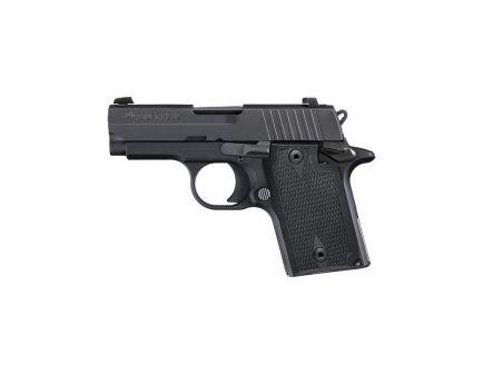 Sig Sauer P938 Nitron Micro-Compact 9mm Pistol, Hardcoat Anodized Black - 9389BAMBI