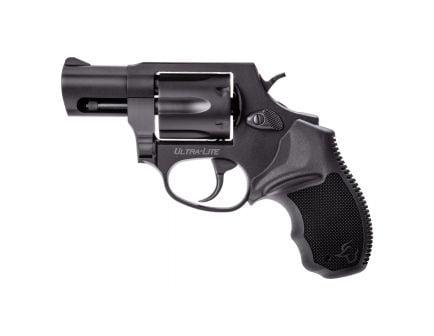Taurus 856 Ultra-Lite Small .38 Spl Revolver w/ Gold Accents, Anodized Matte Black - 2-856021ULGLD