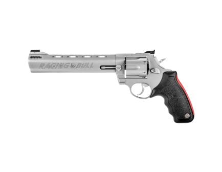 "Taurus Raging Bull 444 Large 8.37"" .44 Mag Revolver, Matte Stainless - 2-444089"