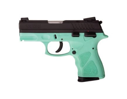 Taurus TH9C Compact 9mm Pistol, Black/Cyan - 1-TH9C031C