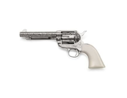 Taylors & Company 1873 Cattle Brand Engraved .357 Mag Revolver, Nickel Plated - OG1405