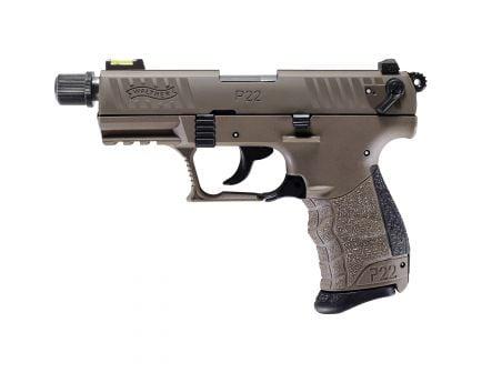 Walther P22 Q .22lr Pistol, Tactical Flat Dark Earth - 5120753
