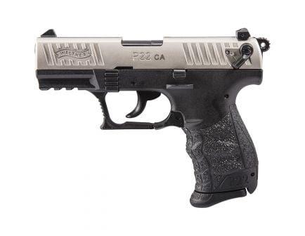 Walther P22 CA .22lr Pistol, Nickel - 5120336