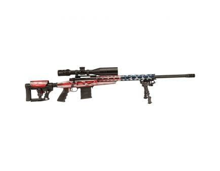 Howa M1500 6.5 Crd Bolt Action Rifle w/ 4-16x50mm Long Range Scope, American Flag RWB Cerakote - HCRA72507USK