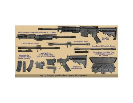 Windham Weaponry .223 Rem/5.56/.300 Blackout/7.62x39mm/9mm Semi-Automatic AR-15 Rifle - RMCS-4