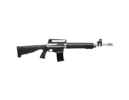 "Iver Johnson Arms 20"" 12 Gauge Shotgun 3"" Semi-Automatic, Satin Nickel - STRYKER"