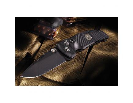 "Wilson Combat Star-Light Drop Point Folding Knife, 3.5"", Black with G-Mascus Pattern - WTK-STARLIGHT"