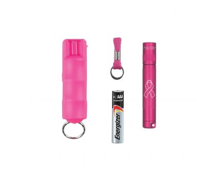 Maglite Solitaire 47 lm LED Water-Resistant Solitaire LED w/ Pepper Spray, Pink - SJ3AUC6