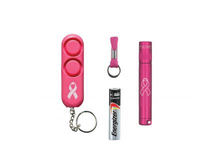 Maglite Solitaire 47 lm LED Water-Resistant Solitaire LED w/ Personal Alarm, Pink - SJ3AUD6