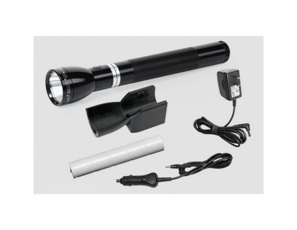 Maglite Mag Charger 643 lm LED Rechargeable Water-Resistant Flashlight System, Black - RL1019