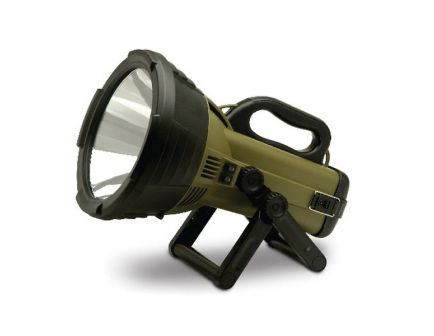 Cyclops Colossus Halogen Rechargeable Spotlight, Black/Green - CYC-C18MIL-FE