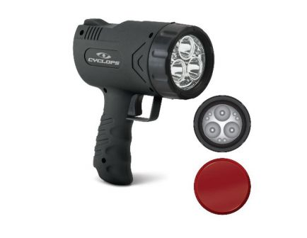 Cyclops Sirius 500 500/45 lm (3) Cree Hi-Power LED (6) LED Handheld Rechargeable Spotlight, Black - CYC-X500H
