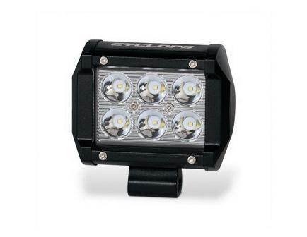 Cyclops C3B 1620 lm (6) LED Dual Row Bottom Mount Weatherproof Shockproof Bar Light, Black - CYC-LBDR18-BM