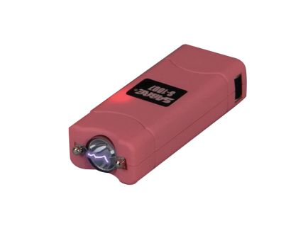 Sabre 3.8 MV Portable Short Stun Gun w/ LED Flashlight, Pink - S1007PK