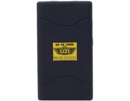 CampCo UZI 1.5 MV Portable Stun Gun, Black - UZISG1500
