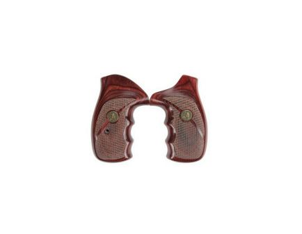 Pachmayr Renegade Checkered Grip for S&W N Frame Round Butt Revolver, Rosewood - 63040