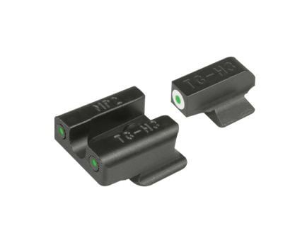 TruGlo Tritium Pro Front/Rear 3-Dot Night Sight Set for S&W BodyGuard 380 ACP Pistol - TG231MP2W