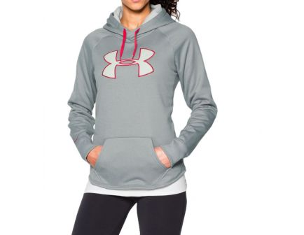 Under Armour Women's Storm Armour Fleece Big Logo Hoodie, True Gray- 1246825-025