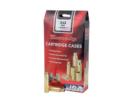 Hornady New Unprimed Brass .243 Winchester Cartridge Cases, 50 count - 8620