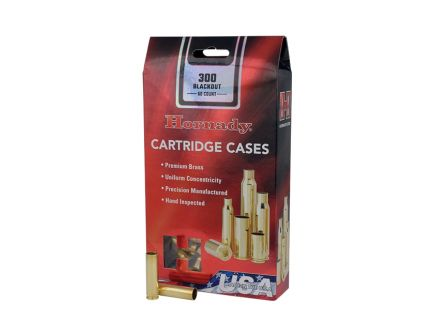 Hornady New Unprimed Brass .300 Blackout Cartridge Cases, 50 count - 86751