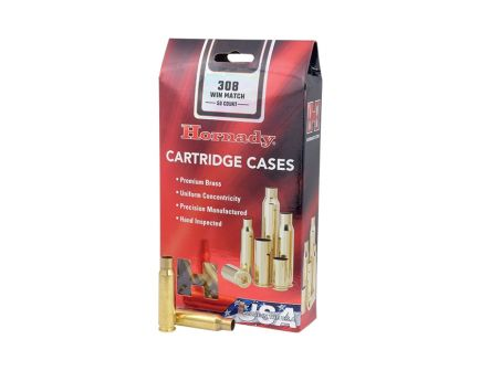Hornady New Unprimed Brass .308 Winchester Cartridge Cases, 50 count- 8661