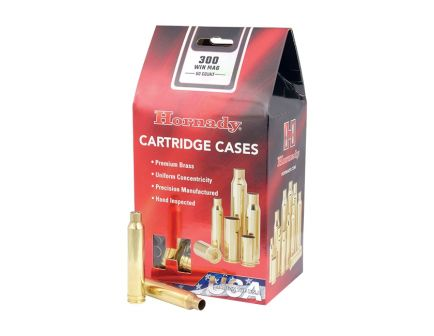 Hornady New Unprimed Brass .300 Win Mag Cartridge Cases, 50 count - 8670