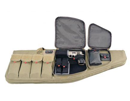"GPS 42"" Tactical AR Case w/ External Handgun Case, Tan ‒ GPS-T42ART (Accessories Not Included)"