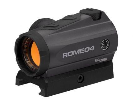 Sig Sauer Romeo4 1x20mm Low Mount Red Dot Sight, Black - SOR41001