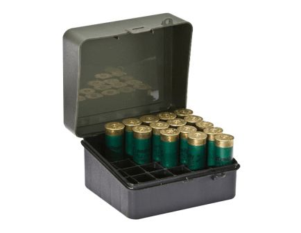 Plano Synergy 12/16 Gauge 25 Round Flip-Top Shotshell Case, Olive Drab Green/Black - 121701