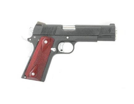 PSA 1911 Nitride Premium w Chrome Controls Red Ambi Checkered Grips