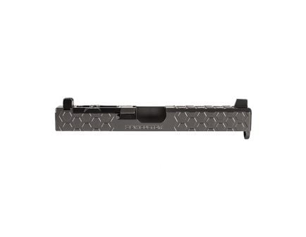 ZEV Gen3 Glock G19 Hex-Cut Slide Kit w/Absolute Co-Witness RMR Cover Plate, Titanium Gray