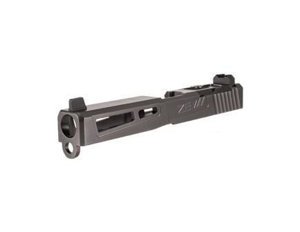 ZEV Gen3 Glock G17 PrizeFighter-Cut Slide Kit w/Absolute Co-Witness RMR Cover Plate, Titanium Gray