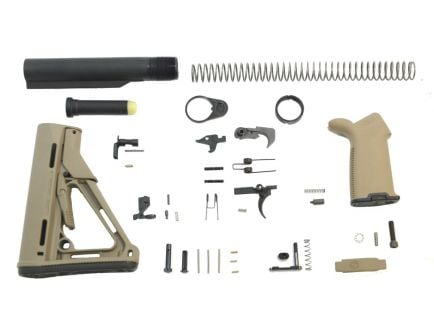 CTR Flat Dark Earth AR-15 Lower Build Kit