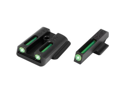TruGlo Brite-Site TFO Sight Set for Ruger LC Pistol, Green Front/Rear - TG131RT2