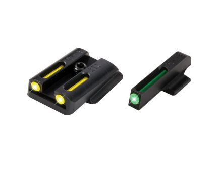 TruGlo Brite-Site TFO Sight Set for Ruger LC Pistol, Green Front/Yellow Rear - TG131RT2Y