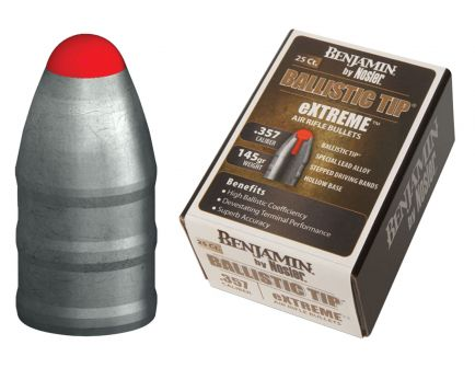 Benjamin Sheridan Nosler Extreme .357 Ballistic Tip Pellet, 25/pack - BPN357