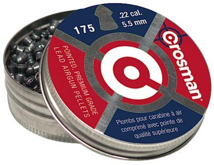 Crosman CopperHead .22 14.3 gr Pointed Pellet, 175/pack - P022