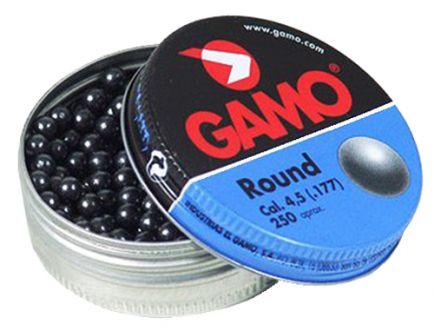 Gamo Outdoor Roundball BB's .177 7.6 gr Round Pellet, 250/pack - 632032454
