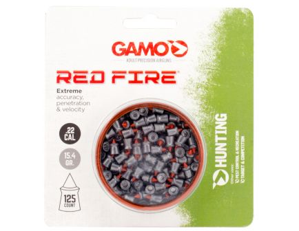 Gamo Outdoor Red Fire .22 15.43 gr Diamond Shaped Pellet, 125/pack - 632270454