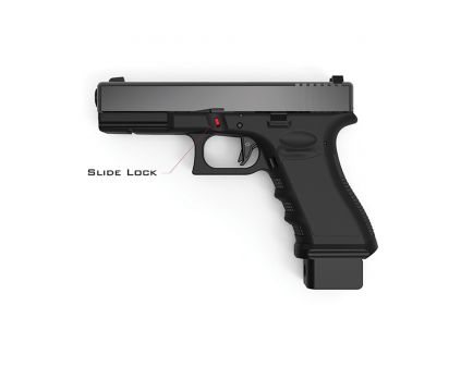 Cross Armory Extended Slide Lock for Full Frame Glocks Gen 1-4 Pistols, Black - CRGSLBK