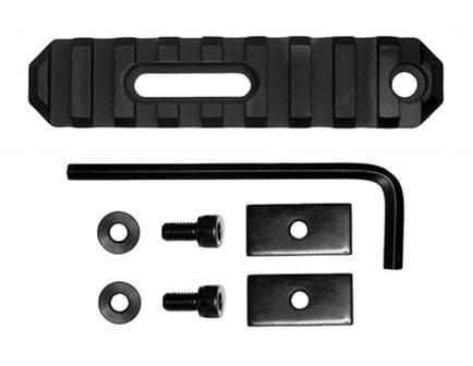 "GrovTec Stock AR Aluminum 9-Slot Picatinny Rail, 3.8"" L, Type III Anodized Black - GTSW190"