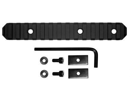 "GrovTec Stock AR Aluminum 15-Slot Picatinny Rail, 6"" L, Type III Anodized Black - GTSW191"