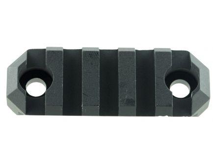 "GrovTec M-LOK Aluminum 5-Slot Picatinny Rail w/ Push Button Base, 2.2"" L, Type III Anodized Black - GTSW236"